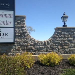 Erie Shore® Blue Vein Split Veneer on sign