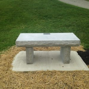 Erie Shore® Blue Vein stone cut for Memorial Bench, Moose Lodge Sidney, OH