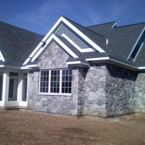 Blue Gray Web Wall in Masonry Application