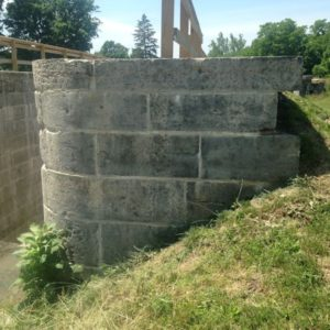 Replacement Lock Stones cut for Lockington Locks restoration