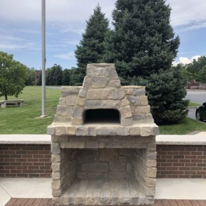 Outdoor Fireplace using Erie Shore® Regular Mix Split Veneer Stone