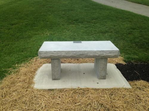 Flat Rock Blue Vein stone cut for Memorial Bench Moose Lodge Sidney